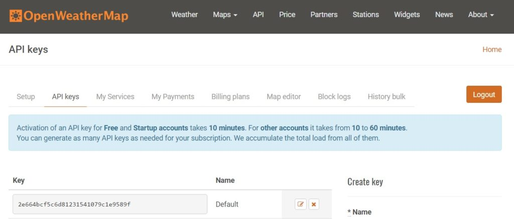 Google AdWords Wetterskript - openweathermap APIkey